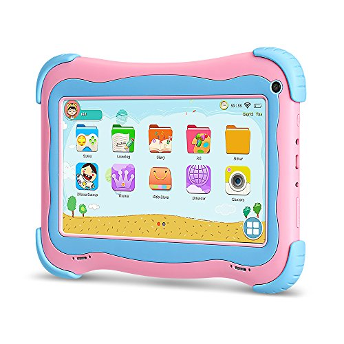 YUNTAB Q91 Tablet,7.0-inch,Android 8.1.0,A50,1.5GHz Quad-core,IPS Touch Screen,1GB+16GB,Dual Cameras,Wi-Fi,Bluetooth,with GMS Certification (Pink)