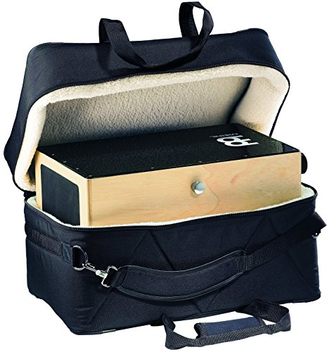 Meinl Percussion Meinl Cajon Box Drum Bag-Deluxe Professional Standard Size-Synthetic Wool Lining, Heavy Duty Padded Nylon Exterior, Shoulder Strap and Carrying Grip, Black, ()
