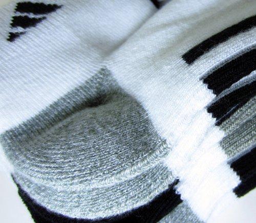 Adidas Socks Low Cut Sport Cushioned - White  Shoe Size 6-12