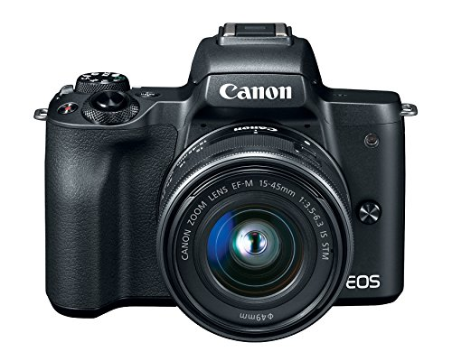 Canon EOS M50 24.1MP Mirrorless Camera (Black) with EF-M 15-45 is STM Lens