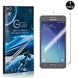 Galaxy Grand Prime Tempered Glass Screen Protector, UNEXTATI Premium HD [Easy Install] [Anti-Fingerprint] Screen Protector Film for Samsung Galaxy Grand Prime (1 Pack)