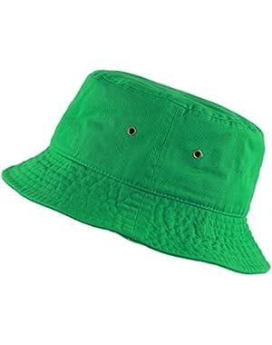 300N Unisex 100% Cotton Packable Summer Travel Bucket Hat