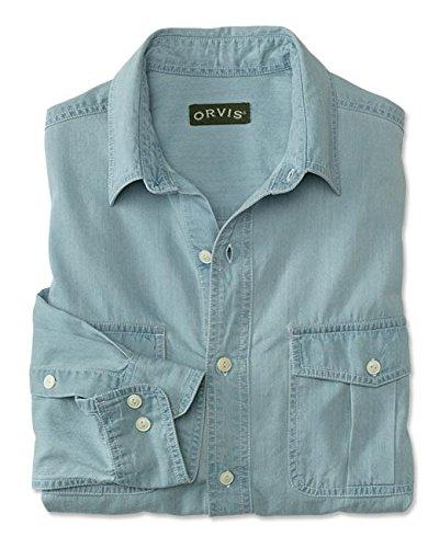 8bb25868 Orvis Chambray Shirt, X Large: Amazon.co.uk: Clothing