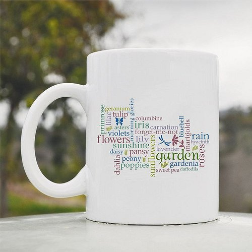 Primrose Flowers Tulip Peony Poppies Rain Iris Garden Cute Funny 11oz Ceramic Coffee Mug Cup (Peony Grinder Coffee)