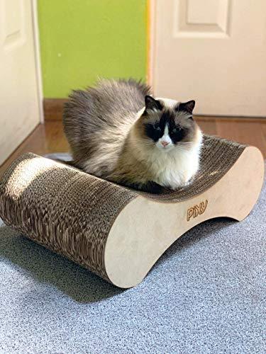 Rascador de cartón para gatos, protege tus muebles.