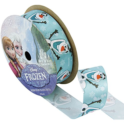 Offray 944866 Frozen Craft Ribbon, 7/8-Inch by 9-Feet, Olaf Close -