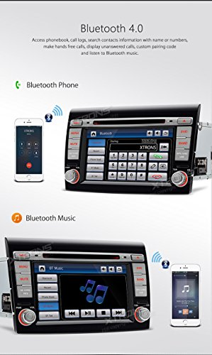 XTRONS 7 Inch HD Digital Touch Screen Car Stereo In-Dash DVD Player with GPS CANbus Screen Mirroring for FIAT Kudos Map Card Included by XTRONS (Image #6)