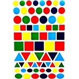 Color Coding Labels--Value pack Assorted shapes and sizes, 5 Colors Stickers--1800 pack