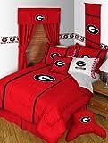 University of Georgia Bulldogs MVP Bedding Set-Queen-includes comforter, sheet set, 1 sham, bedskirt, 1 pillow
