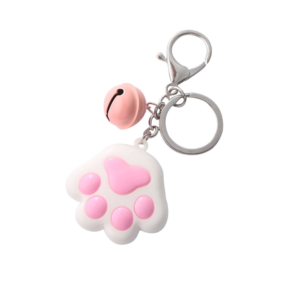 Doitsa 1 x Dog Claw Pendant Keyring with Cute Bell/Kawaii Decorative Accessories for Car/Mobile Phone/Bag (White)