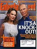 Entertainment Weekly January 28 2005 Clint Eastwood, Hilary Swank, Million Dollar Baby, Medium, Numb3rs