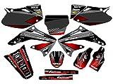 04 crf 450 graphics - Senge Graphics 2002-2004 Honda CRF 450R Surge Black Graphics kit