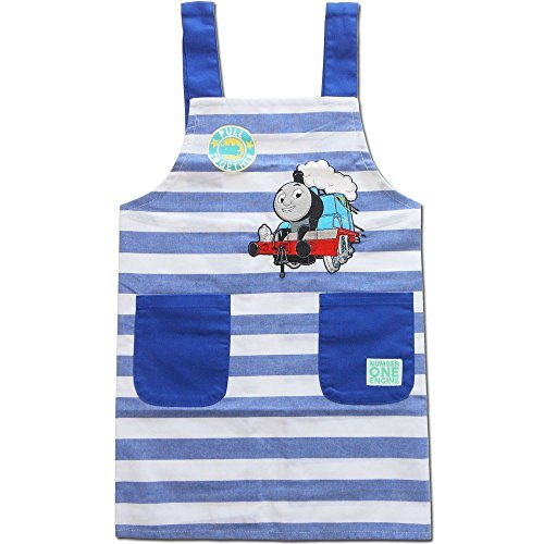 Japan Import 46851-110-130 (130) / Saronje / [Thomas the Tank Engine (border H-type)] Children's aprons / candy / cooking / help / school / home economics / mom / gift (Thomas The Tank Engine Border)