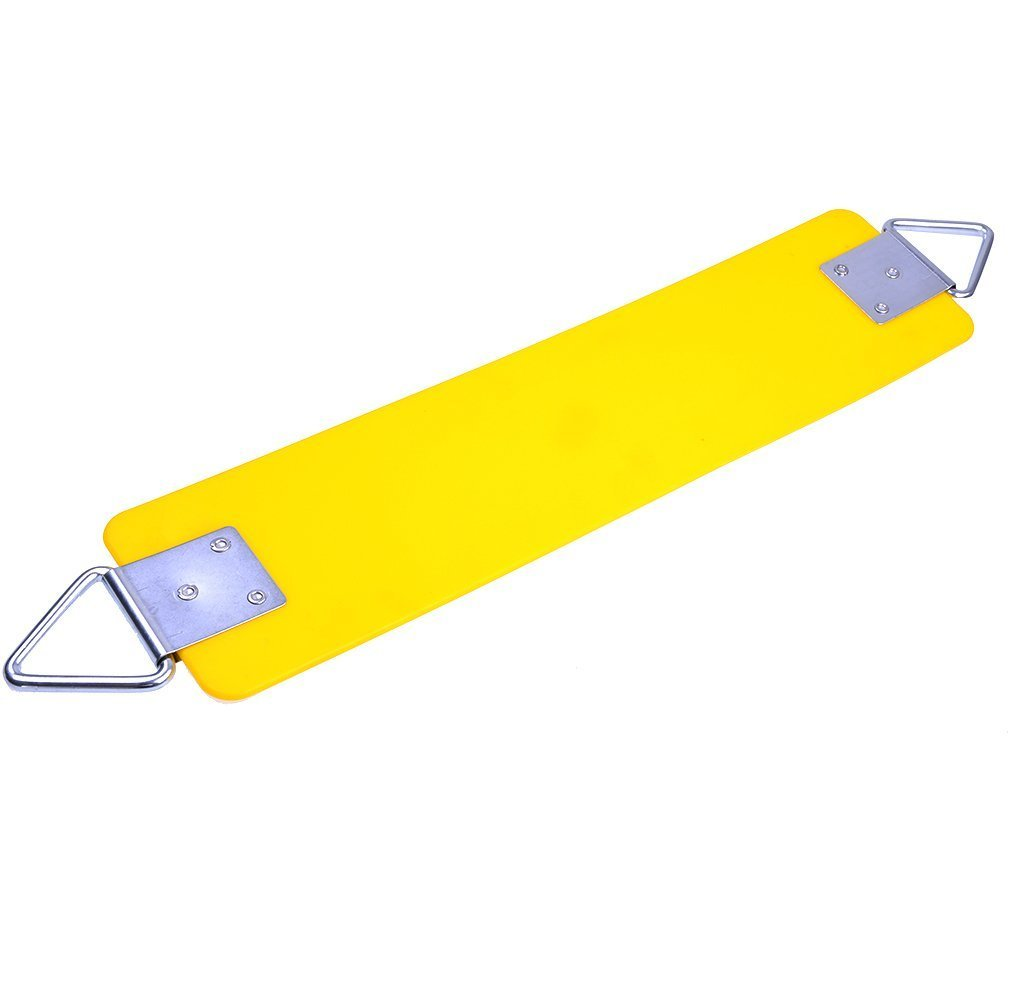 AGPTEK Swing Seat, 77.2 x 15 x 0.7cm Yard Swing for Kids & Adults with Metal Triangle Ring -- Yellow (300KG /660LB Weight Limit)