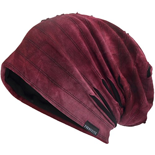 JESSE · RENA Men's Chic Striped Thin Baggy Slouch Summer Beanie Skull Cap Hat - Lined Beanie Striped