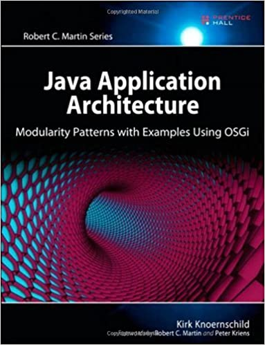 Java Application Architecture: Modularity Patterns with Examples Using OSGi (Robert C. Martin Series) by Kirk Knoernschild (2012-03-25)