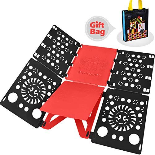 BoxLegend V2-Plus Shirt Folding Board t Shirts Clothes Folder Durable Plastic Laundry folders Folding Boards flipfold