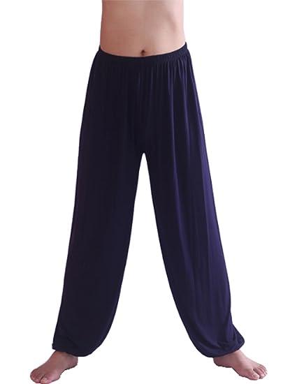 CHIC-CHIC Hommes Casual Danse Yoga Pantalon Hiphop Baggy Sport Jogging  Sarouel Pants Souple Pyjama ... 1ef03685818