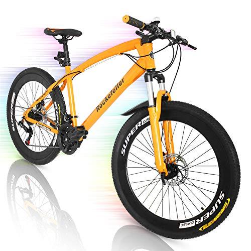 Superday 21 Speed 700CC Double Disc Mountain Bike 26in Orange Suspension Springer Fork Aluminium Alloy Bike