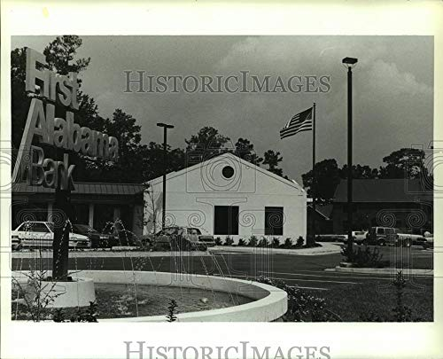 1991 Press Photo Exterior of First Alabama Bank in Daphne, Alabama - amra03831