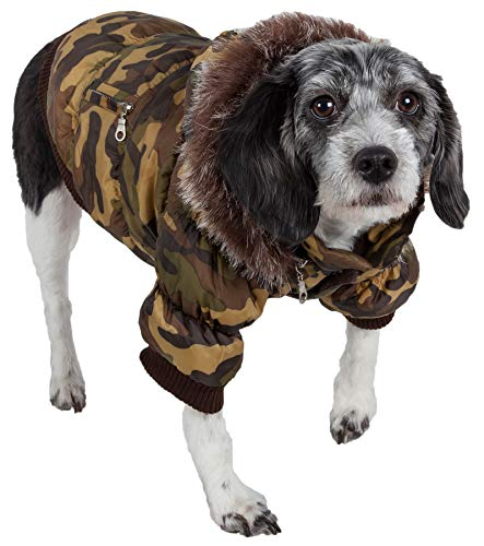 PET LIFE Classic Metallic Fashion Pet Dog Coat Jacket Parka w/ 3M Insulation and Removable Hood, Small, ()