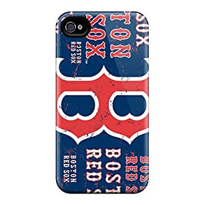 Perfect Cell-phone Hard Covers For Iphone 4/4s With Unique Design Fashion Boston Red Sox Skin CharlesPoirier