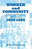 Worker and Community : Response to Industrialization in a Nineteenth Century American City, Albany, New York, 1850-1884, Greenberg, Brian, 088706048X
