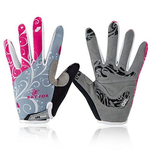Basecamp Mountain Road Bike Gloves,Cycling Bicycle Gloves Spiderweb Full Finger Screen Touchable Outdoors Sports Gloves Men/Women Work Gloves (Fairy flower rose, (Neoprene Full Finger Gloves)