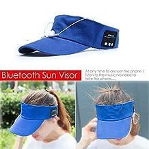 Bluetooth Sun Visor,Richasy K7 Bluetooth Headset Music Sports Cap Sun Hat Visor