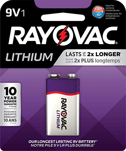 Rayovac 9V Battery, Lithium 9 Volt Battery (1 Count)