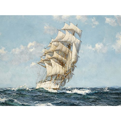 Nautical Vintage Wall Art Pictures Poster Print Antique Sailing Ship Sailboat