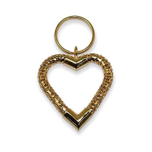 Amazon.com: Gran Corazón Gold-tone Llavero de malla: Jewelry