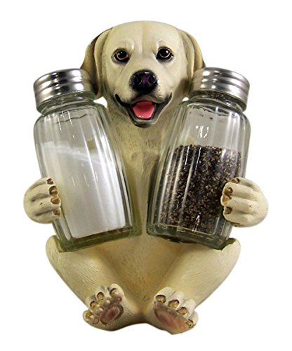 (Labrador Salt and Pepper Shaker Holder 5 1/2 Inch (Shakers Included))