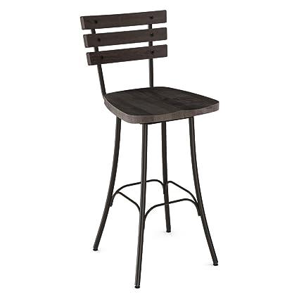 Enjoyable Amazon Com Amisco Dock 26 In Swivel Counter Stool Kitchen Bralicious Painted Fabric Chair Ideas Braliciousco