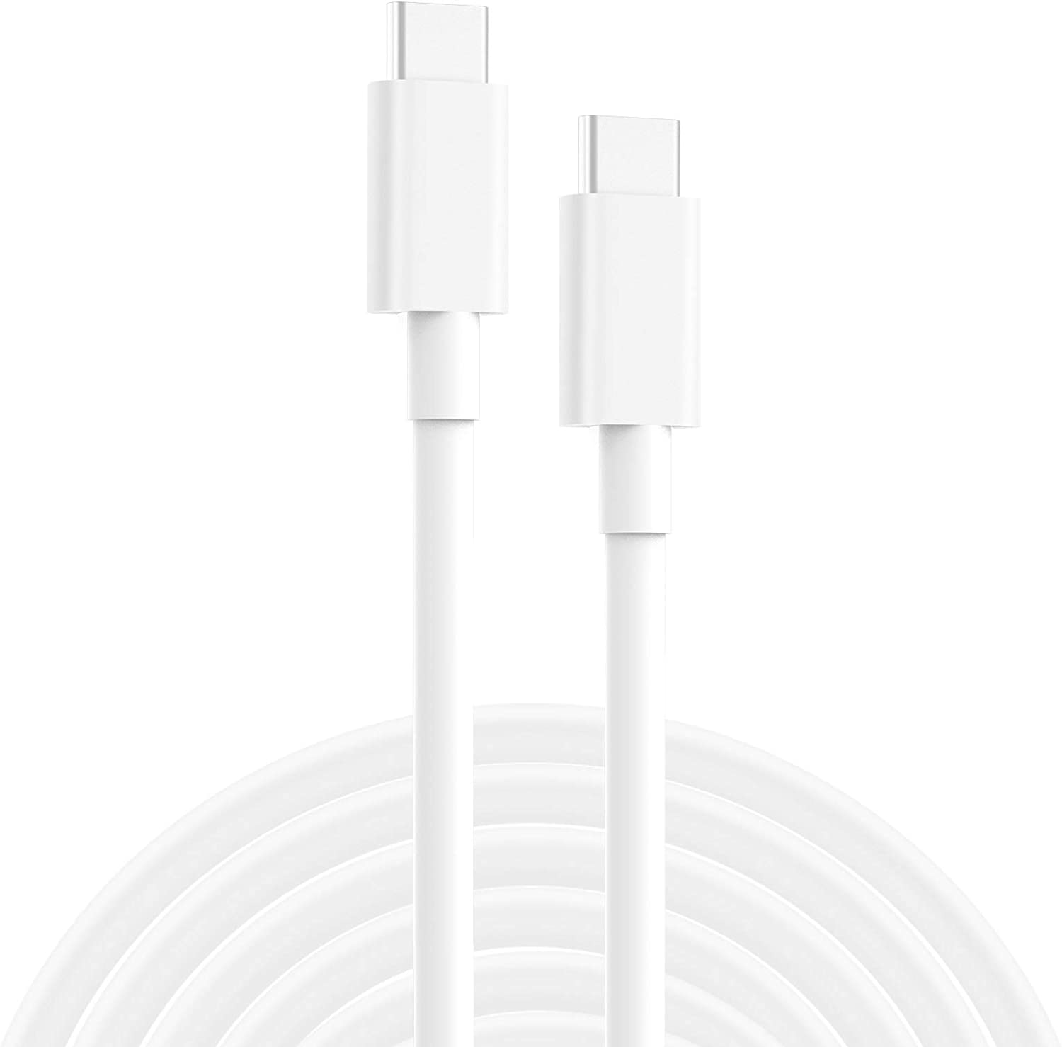 2 Pack USB C to USB C Charging Cable, Cord Replacement for MacBook Pro, MacBook 12 inch, New MacBook Air, 2020/2018 iPad Pro 12.9, 11, Google Pixel 2/3/4 XL, All PD USB C Charger, USB-IF, 6.6ft