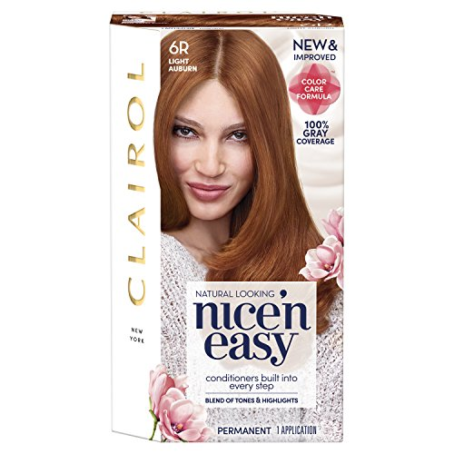 Clairol Nice 'n Easy Permanent Color, 6R/110 Natural Light Auburn, 1 Count (Packaging May Vary)