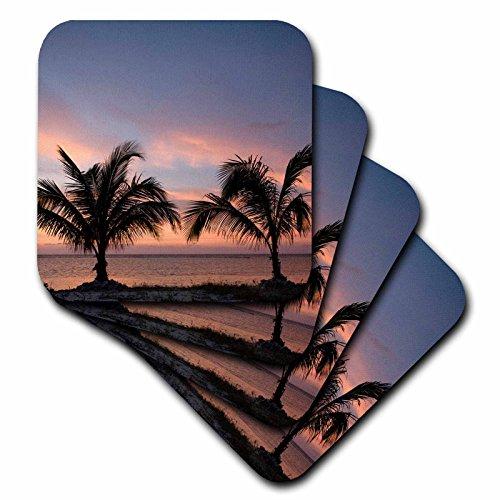 - 3dRose CST_75600_1 Cayman Islands, Palm Trees, Caribbean Sea-Ca42 Pso0079-Paul Souders-Soft Coasters, Set of 4
