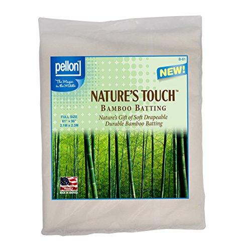 - Pellon B-81 Nature's Touch Bamboo Blend Batting W/Scrim - Full 81