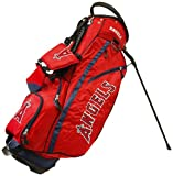 Team Golf MLB Los Angeles Angels Fairway Golf Stand Bag, Lightweight, 14-way Top, Spring Action Stand, Insulated Cooler Pocket, Padded Strap, Umbrella Holder & Removable Rain Hood