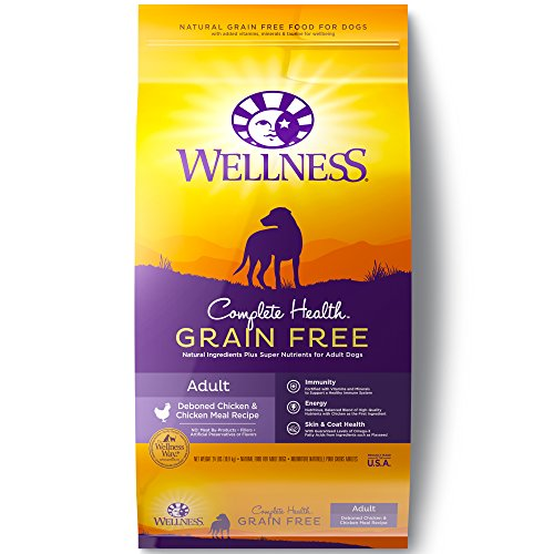 Wellness Complete Health Natural Grain Free Dry Dog Food, Chicken, 24-Pound Bag