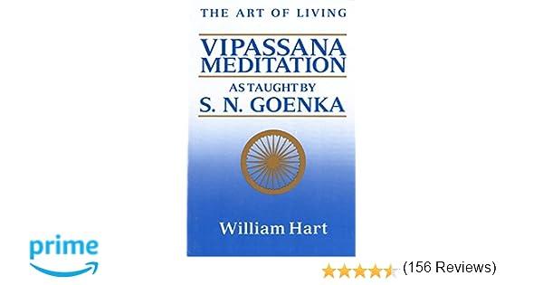 The art of living vipassana meditation william hart the art of living vipassana meditation william hart 9780060637248 amazon books fandeluxe Images
