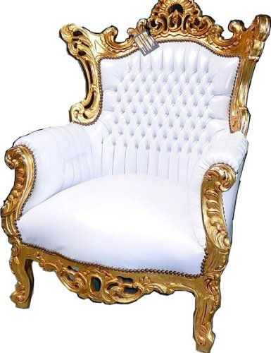 Casa Padrino Barock Barock Padrino Sessel Al Capone Weiß Gold 0acd64