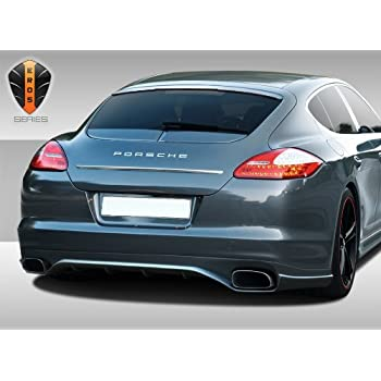 Duraflex ED-MAA-251 Eros Version 2 Rear Lip Under Spoiler Air Dam - 1 Piece Body Kit - Fits Porsche Panamera 2010-2013