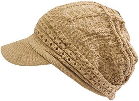 ニット帽 レディース つば付き 帽子 医療用帽子 綿100% 清涼 涼しい 透かし編み 医療用 ケア帽子 抗がん剤 脱毛 春 夏 レース編み 選べるカラーバリエーション