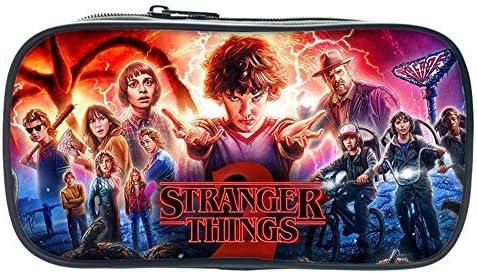 Stranger Things - Estuche Cuadrado Grande para lápices, papelería, Bolsa con Cremallera para niños y niñas: Amazon.es: Equipaje