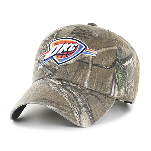 (NBA Oklahoma City Thunder Realtree OTS Challenger Adjustable Hat, Realtree Camo, One Size)