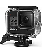 FitStill Waterproof Case for GoPro Hero 8 Black, Protective Underwater 60M Dive Housing Shell with Bracket Accessories for Go Pro Hero8 Action Camera …