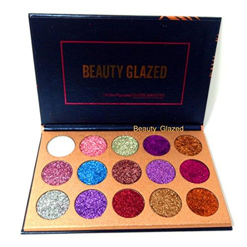 Beauty Glazed Eyeshadow Palette Ultra Pigmented Mineral Pressed Glitter Make Up Eye Shadow Powder Flash Colors Long Lasting Waterproof 15 Colors