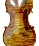 Beautiful 4/4 Professional Level Master Work Stunning Hand-made Concert Maple Wood Grand Level One Piece Back Antique Style Violin with Fish-eye Ebony Parts