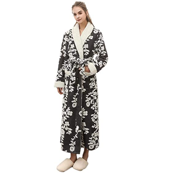 Image Unavailable. Image not available for. Colour  VPASS Winter Men s  Women s Luxury 100% Cotton Towelling Bath Robe Soft Lengthened Coralline  Plush Shawl f4ec9b97d
